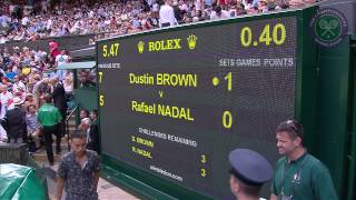 2015 Day 4 Highlights, Dustin Brown vs Rafael Nadal
