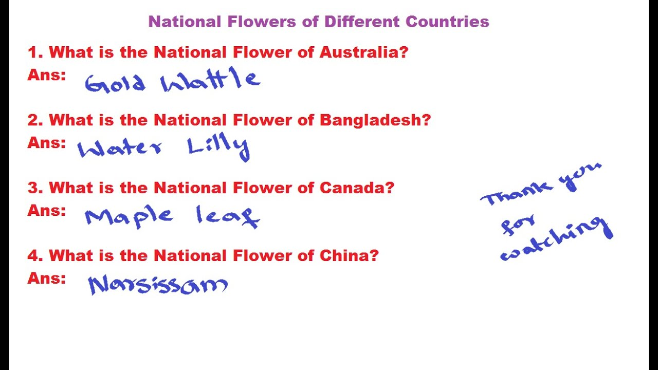 general studies national flowers of different countries national