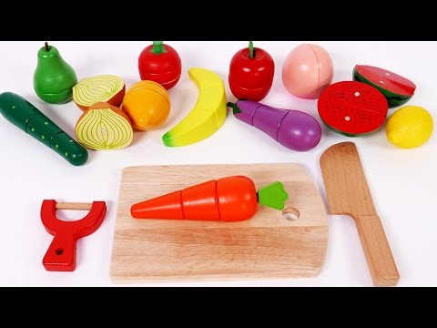 Thumbnail: Cutting Pretend Play Food Learn Colors with Fruits and Vegetables