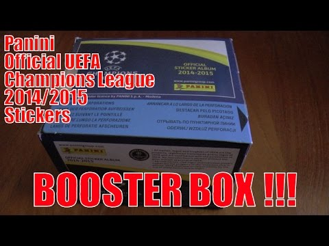 UNBOXING BOOSTER BOX ☆ Panini UEFA CHAMPIONS LEAGUE 2015 Sticker Collection ☆ 50 PACKS!!!
