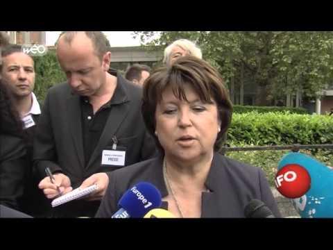 Martine Aubry rend hommage à Pierre Mauroy