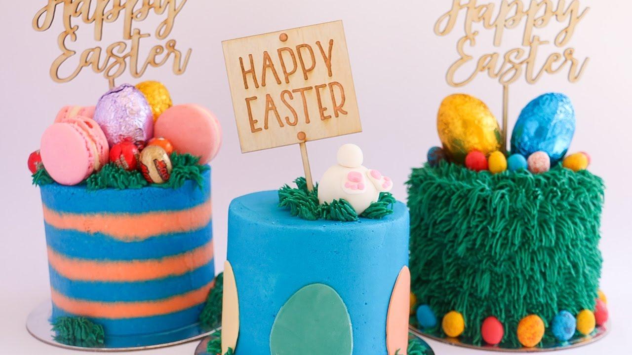 3 Easy Easter Cake Designs Rosie S Dessert Spot Tutorial Youtube