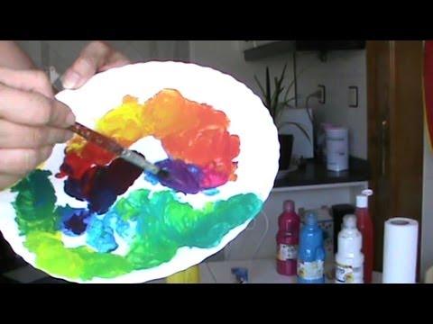 Mezclar colores nociones b sicas ii youtube - Mezcla de colores para pintar ...