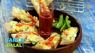 Cheesy Puffs (quick) By Tarla Dalal