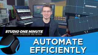 Quick Workflow Tips for Automation #StudioOneMinute