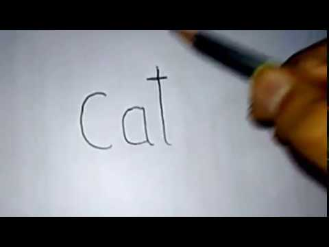 Kids Zone - Cat to Cartoon | Word Toon | Learn with Fun | Step By Step Drawing