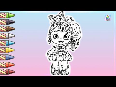 Как нарисовать ДОНАТИНУ из мультика KindiKids | Coloring Kids