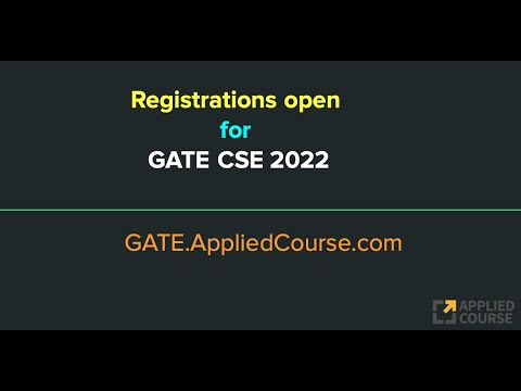 Registrations open for GATE CSE 2022