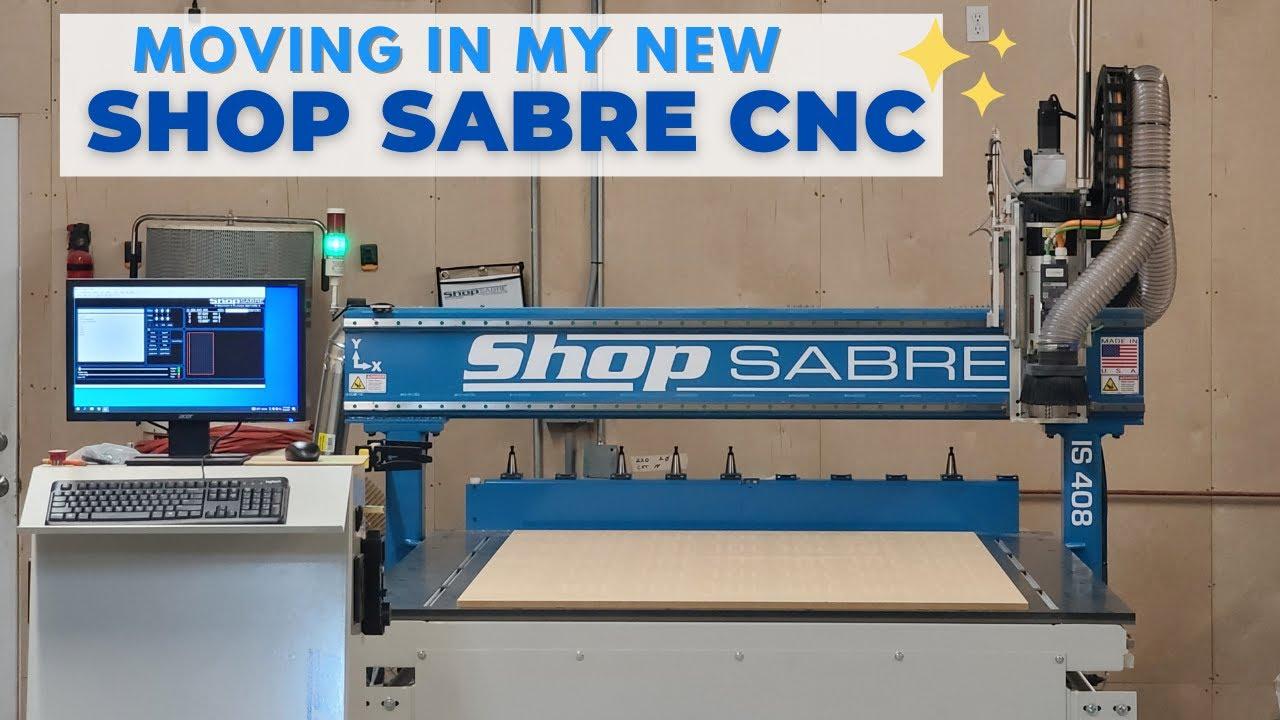 Moving In Big Equipment! My New Shop Sabre CNC #shorts