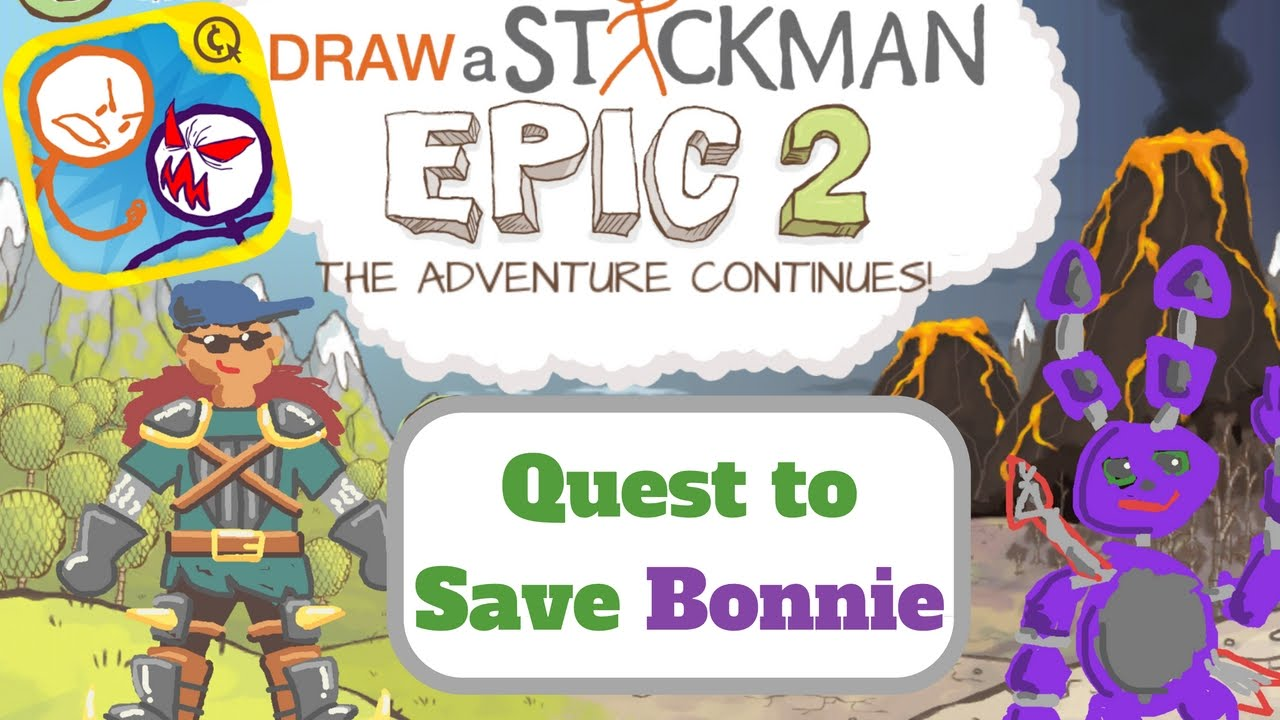 Scribble Drawing Quest : Draw a stickman epic quest to save bonnie youtube