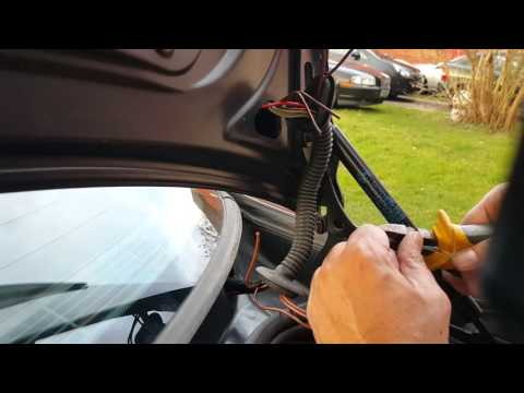 BMW E46 E39 E90 E91 E92 boot Lid Trunk wire harness fault and how to repair the damage wires