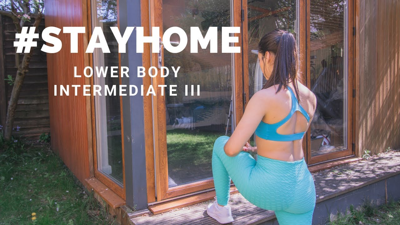 AT HOME LOWER BODY INTERMEDIATE WORKOUT III | #STAYHOME (Step workout, stairs workout, home workout)