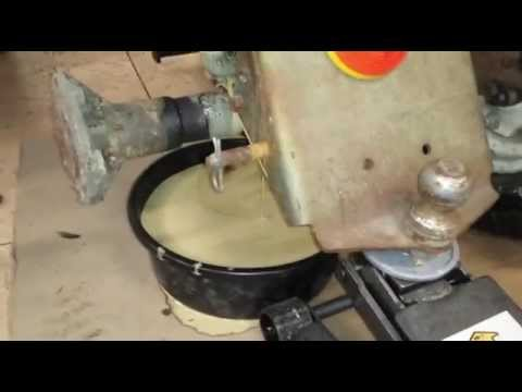 Plow Day Chronicles part 1 changing the transaxle oil 1970 Suburban 12