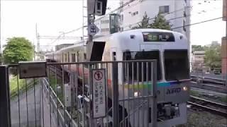京王井の頭線 1000系1729F編成レインボーラッピング電車 吉祥寺駅到着・発車