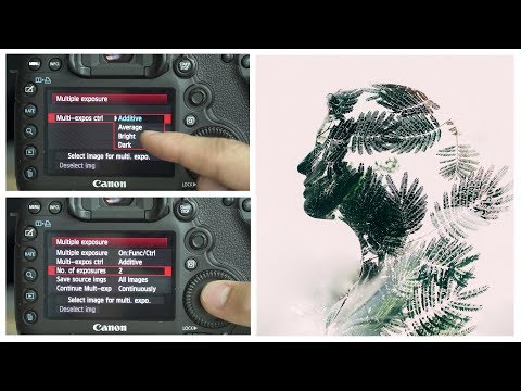 5D Mark 3 Camera Settings For A Double Exposure Multiple Exposure