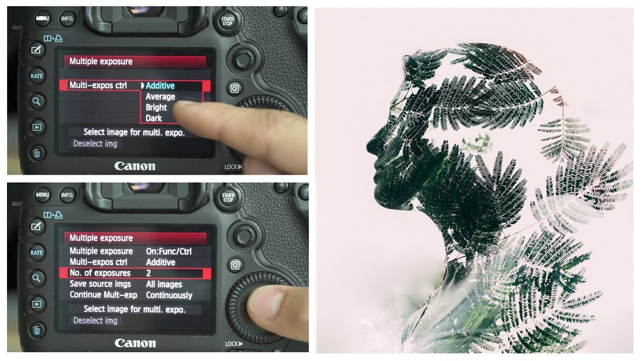 5D Mark 3 Camera Settings For A Double Exposure Multiple