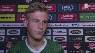 Thijs Timmermans na FC Dordrecht-FC Twente (0-2): 'Tweede helft met vuur gespeeld'