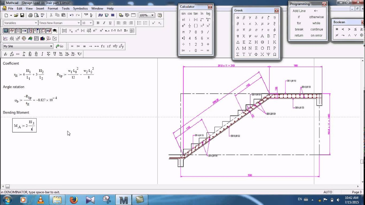 Design Moment On Stair Cass Part 2 Speak Khmer Youtube Diagram