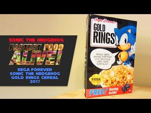 Fastest Food Alive – Sonic the Hedgehog SEGA Forever Gold Rings Cereal 2017