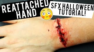 REATTACHED HAND: HALLOWEEN Special FX Tutorial | JamiePaigeBeauty