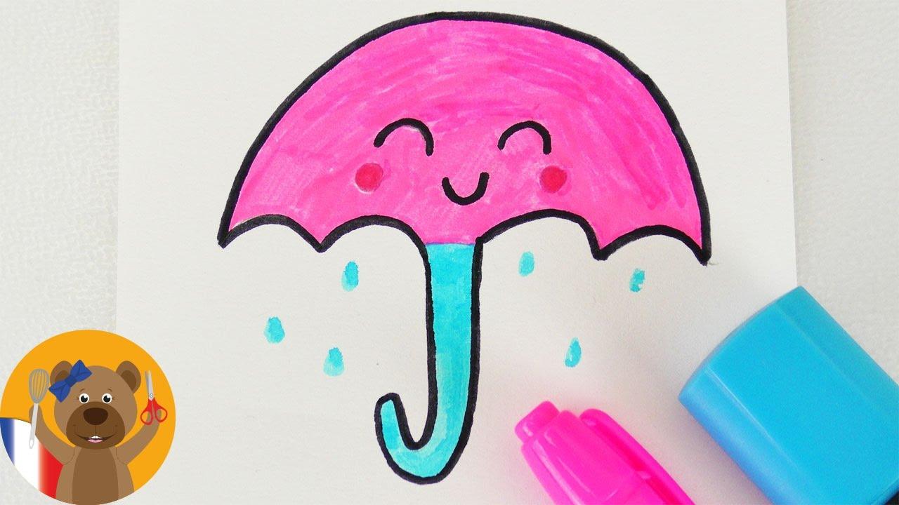 Dessiner un parapluie kawaii diy adorable parapluie pour les jours froids et humides