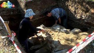 В Архангельске археологи нашли фундамент беседки Грина