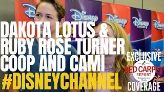 Dakota Lotus & Ruby Rose Turner interview at Disney Channel's Fall Preview #CoopandCami