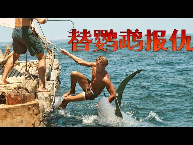 【牛叔】超生猛的!愛鳥被鯊魚吃了,拽住尾巴拖上來,果然是海賊王的男人!