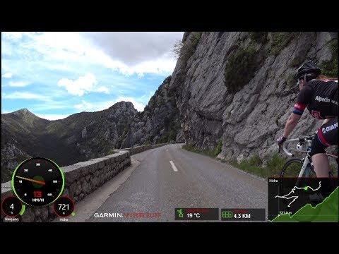 60 Minute Great Canyon du Verdon Road Cycling Workout France Part 2