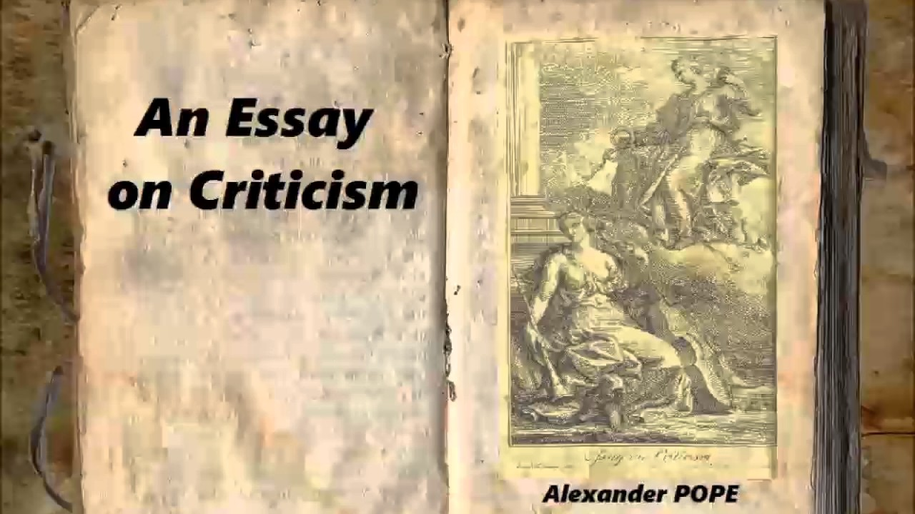 How to write an essay on criticism
