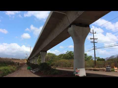 Honolulu Rail Construction Progress - September 2015