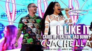 Cardi B Bad Bunny & J Balvin - I like it - Live at Coachella 2018 weekend 2