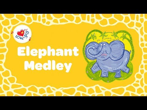 Elephant Medley with Lyrics | Kids Animal Song | Children Love to Sing