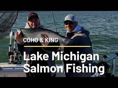 Lake Michigan Coho Salmon Fishing