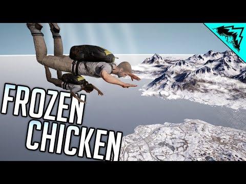 1st FROZEN CHICKEN - PUBG New Winter Map