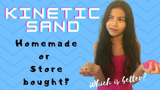 Make Homemade Kinetic Sand  Is it better than store bought?