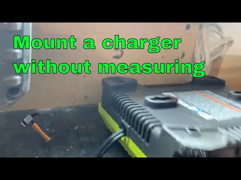 Mount a charger to wall without measuring (RYOBI TOOLS)