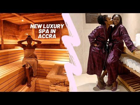 VLOG: New Luxury Spa in Accra | Birthday Treat | Kempinski Resense Spa | JES ISCAH