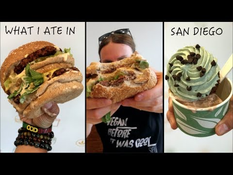What I Ate Today (VEGAN MUKBANG) In SAN DIEGO