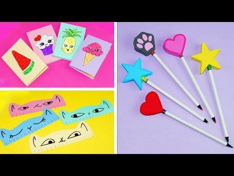 3 DIY School Supplies | Easy DIY Paper crafts ideas