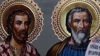 Сумская Икона Апостолы Филимон и Тимофей Обзор Готовой Иконы Написанной в Иконописной Мастерской