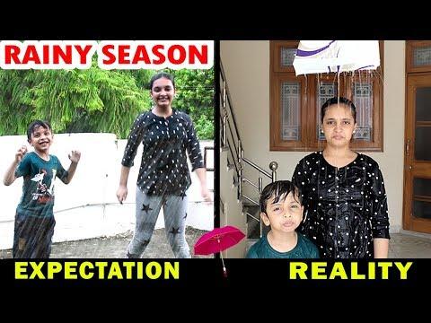 RAINY SEASON - Expectation Vs Reality - Monsoon Aayu And Pihu Show