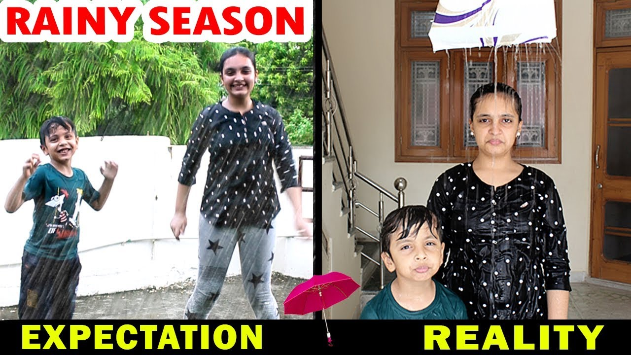 Download RAINY SEASON - Expectation vs Reality - Types of Kids in Monsoon Aayu and Pihu Show
