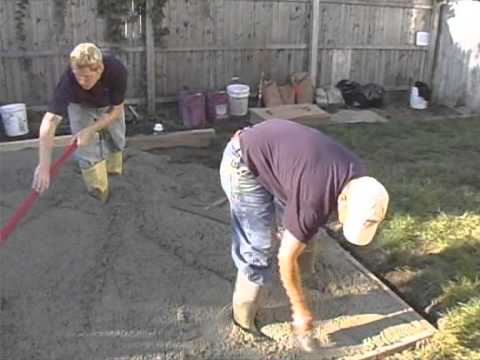 Installing A Stamped Concrete Patio With Split Rok Construction On American  Builder
