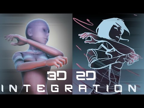 How to Merge 2D With 3D Animation - Flash Tutorial