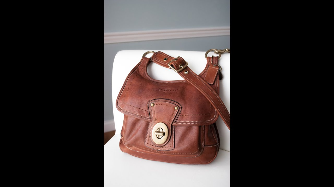 Coach Whiskey Legacy 65th Anniversary Hippie Handbag Purse 10325 - YouTube