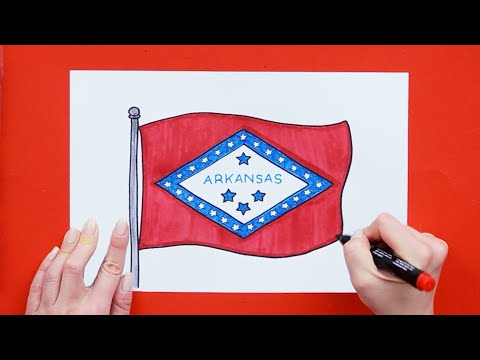 How To Draw The Flag Of Arkansas State, USA