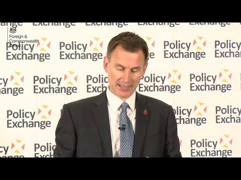 An Invisible Chain: speech by Foreign Secretary Jeremy Hunt