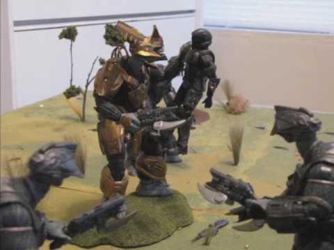 halo action figure diorama battle displays campaign