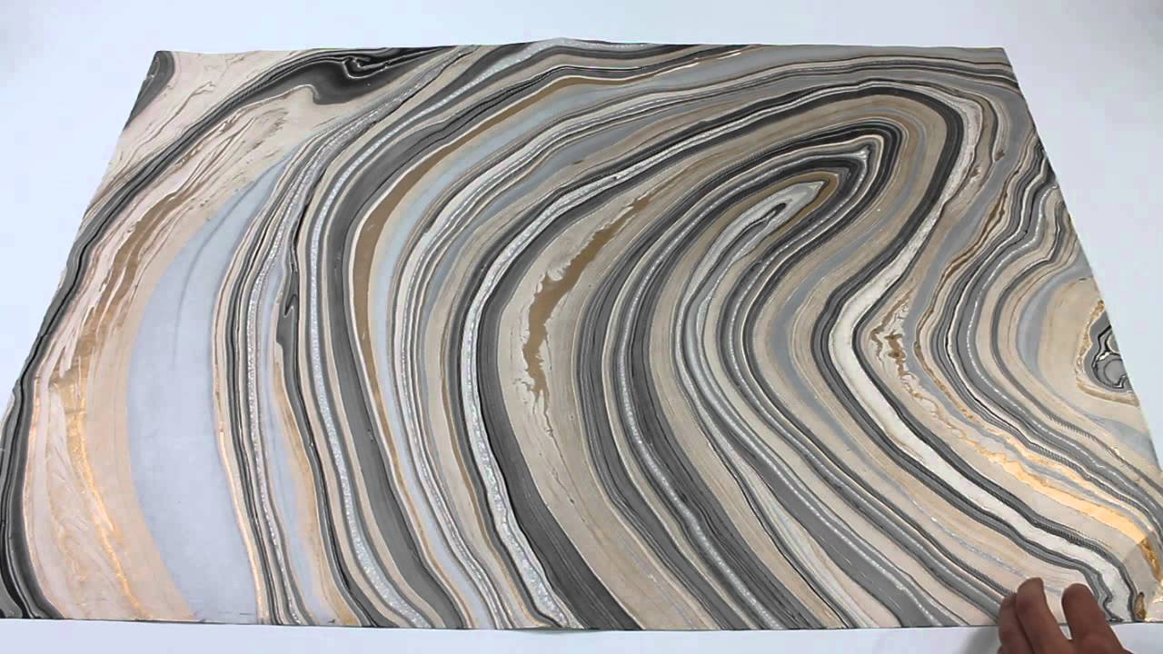 Black Gold Silver Thai Marble Paper Youtube